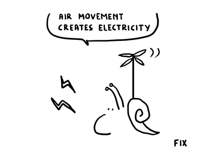 Air movement creates electricity