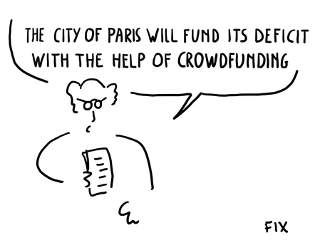 The City of Paris will fund its deficit with the help of crowdfunding