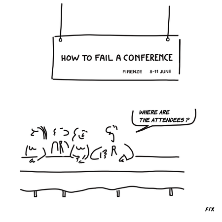 "Maybe did the attendees attend a ""success conference"" ?"