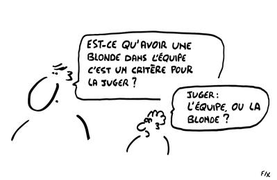 C'est l'histoire d'une blonde qui ... (ils sont un peu macho au SWPA)