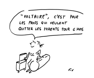 """Le """"échanges Voltaire"""" concernent ... les élèves"""