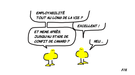 Ne soyez pas une oie: faible employablilité.