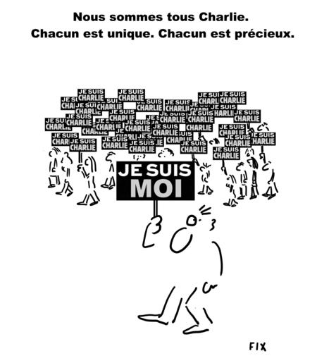 Nous sommes tous Charlie - Chacun est unique. Chacun est précieux. Je suis moi. Je suis Charlie