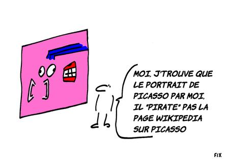 Qu'aurait fait Picasso avec Wikipedia? De l'art?